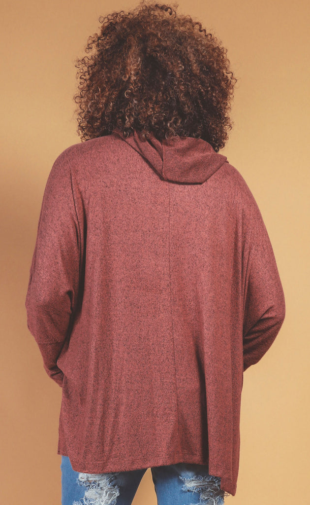 never better berry poncho - extended