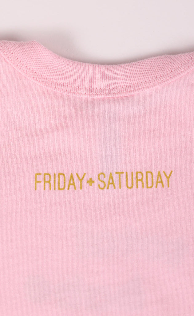 friday + saturday: total babe onesie
