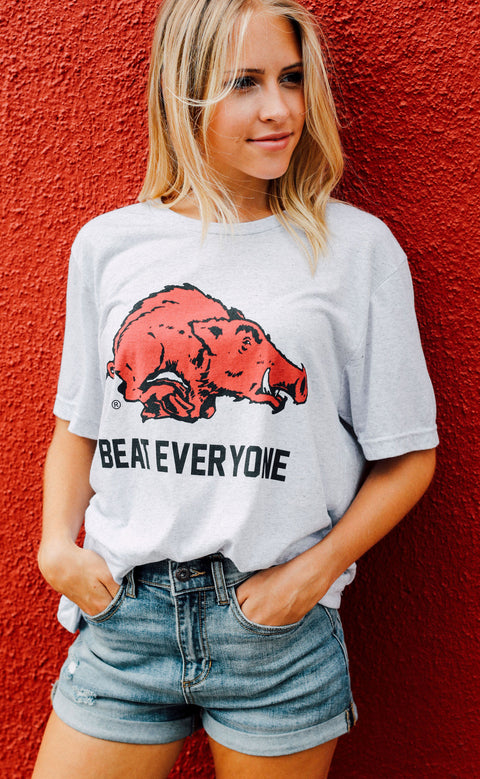 charlie southern: beat everyone razorback t shirt (pre-order)