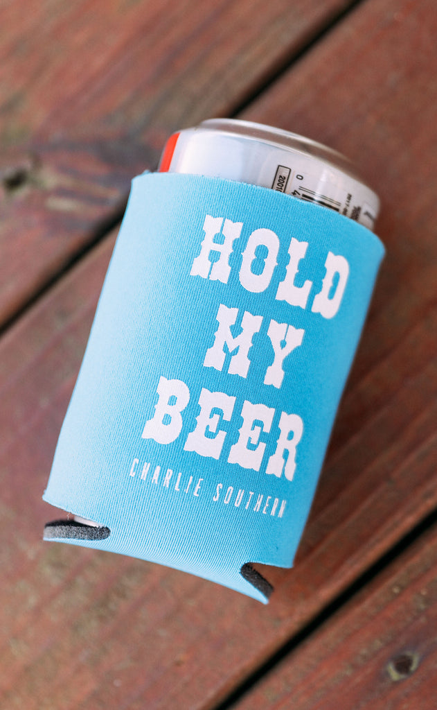 charlie southern: hold my beer drink sleeves - set of 4
