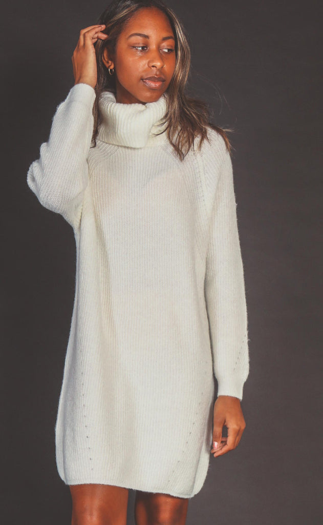 slip over sweater dress - ivory
