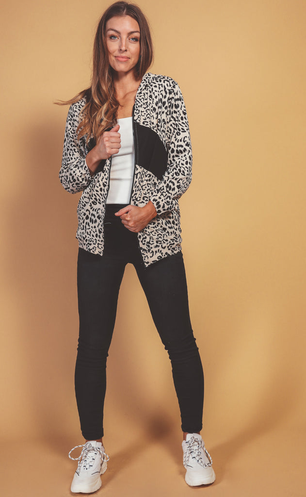 fast track leopard jacket