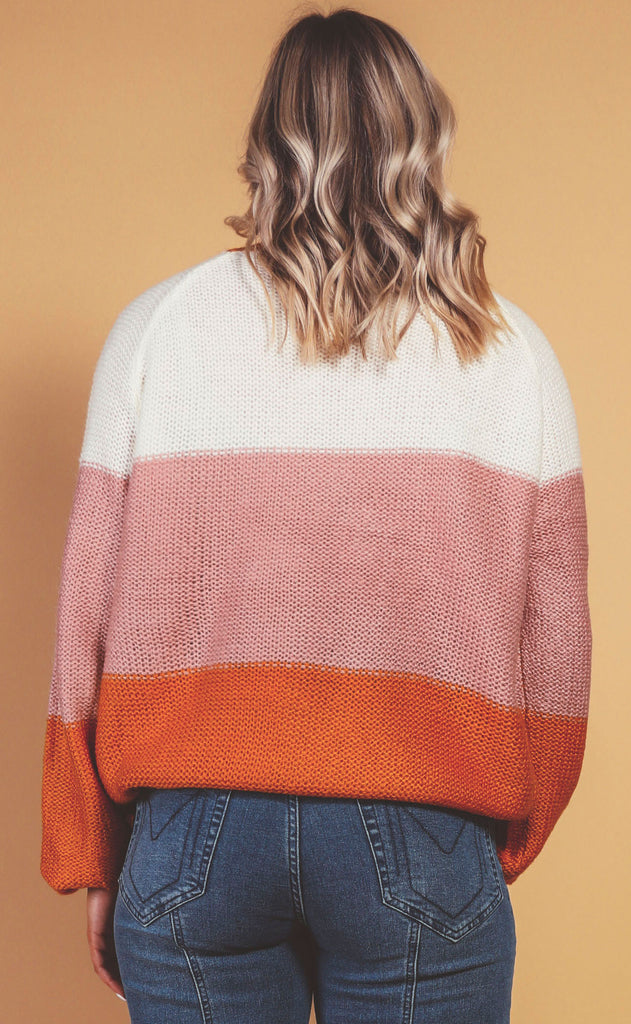 sherbert striped sweater - extended