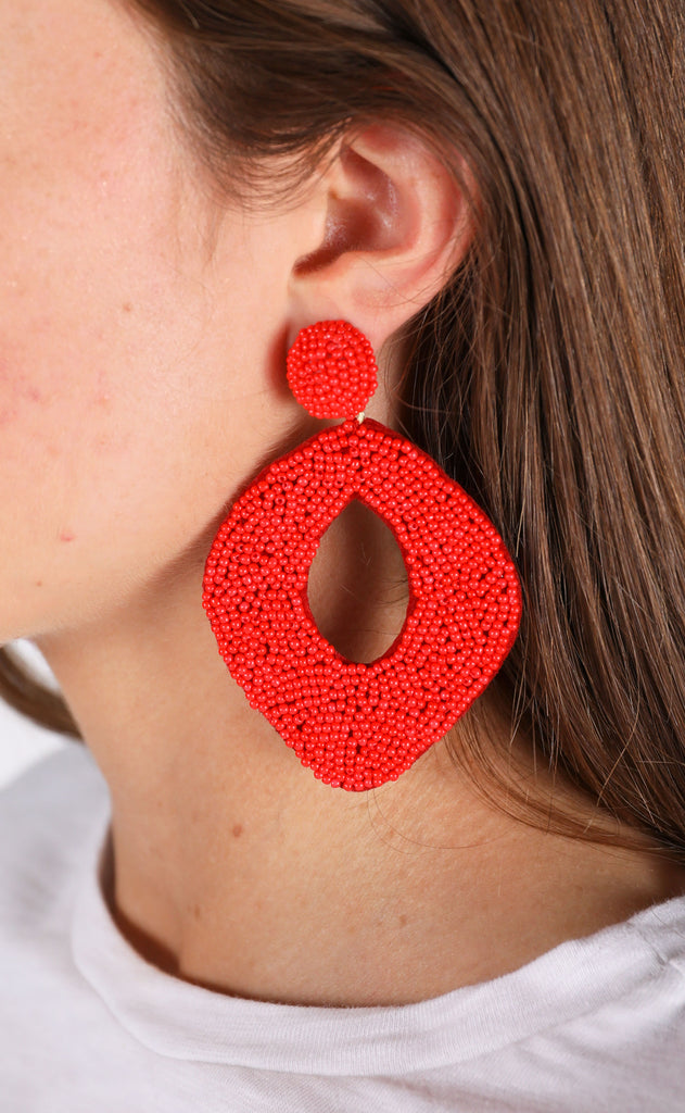 abby earrings - red