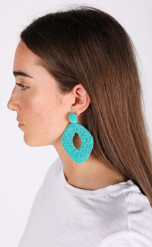 abby earrings - turquoise