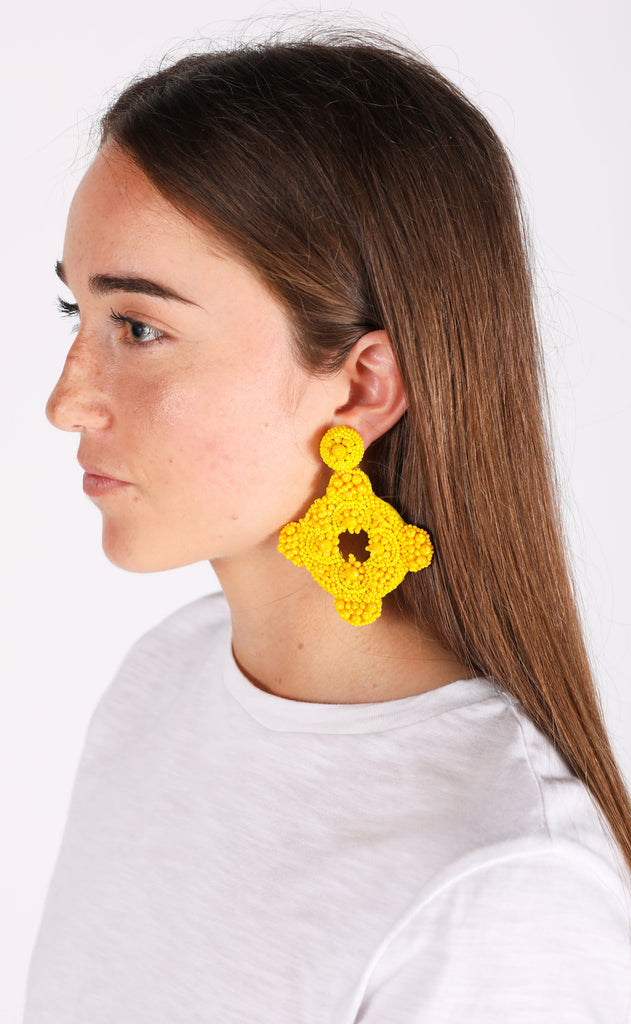cartagena earrings - yellow