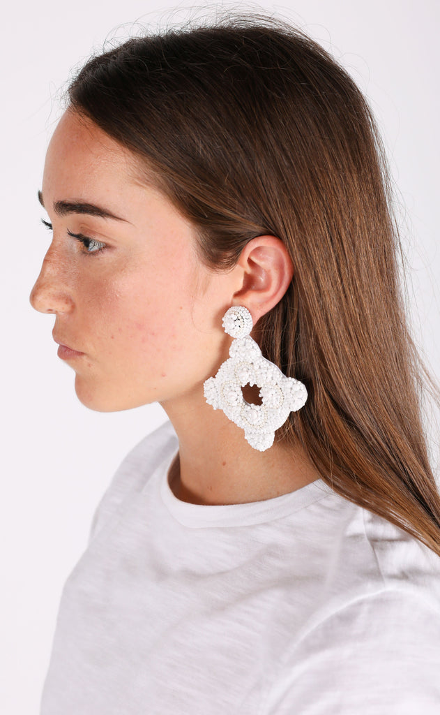 cartagena earrings - white