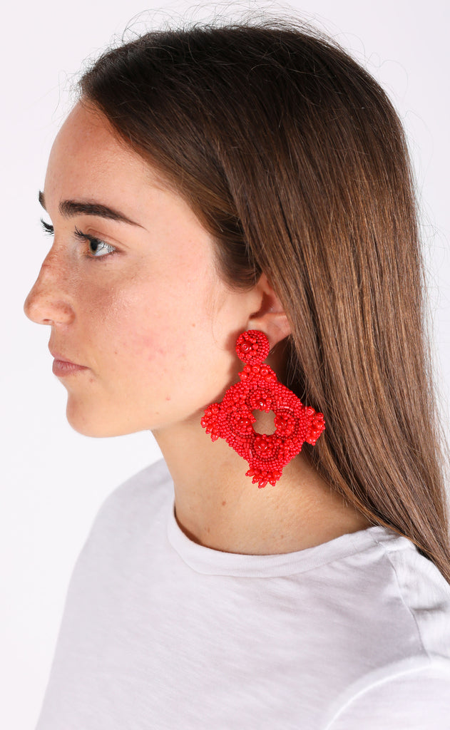 cartagena earrings - red