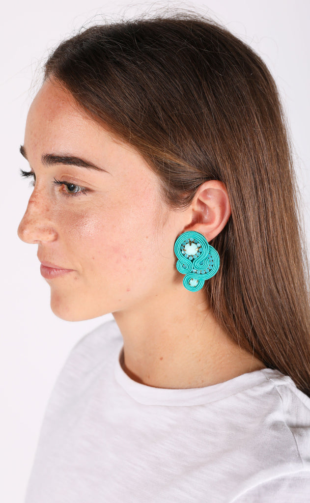 mimi earrings - turquoise