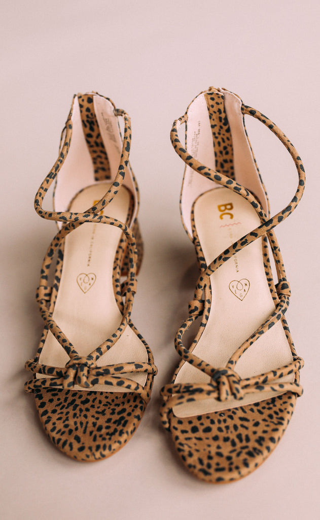 bc footwear: on my radar sandal - cheetah