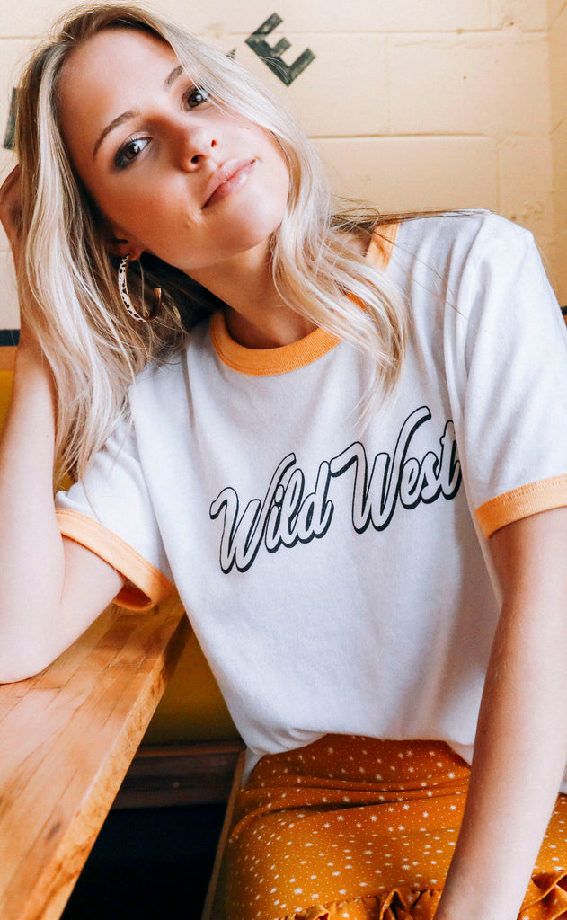 charlie southern: wild rest ringer t shirt
