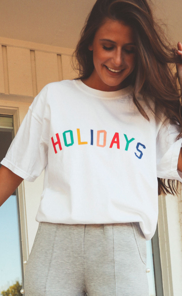 charlie southern: rainbow holidays t shirt