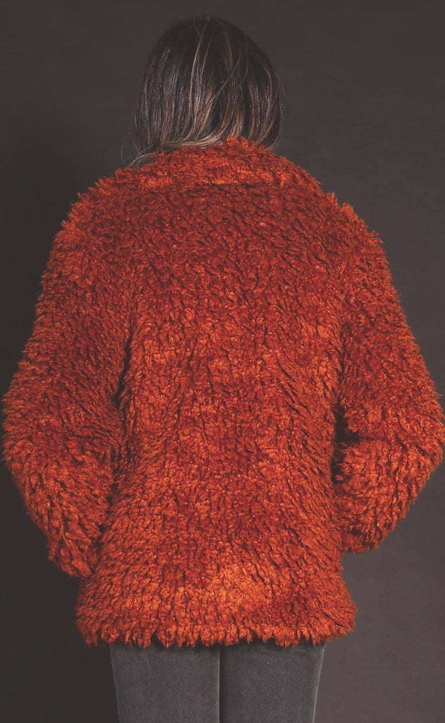 warm and cozy shag jacket