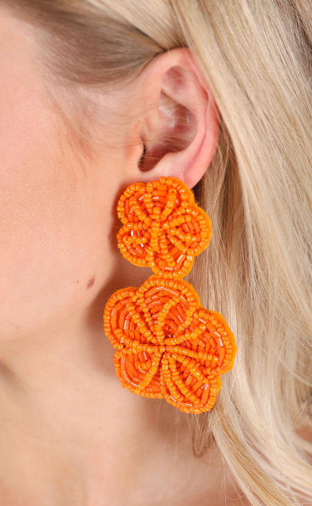 margarita earrings - orange
