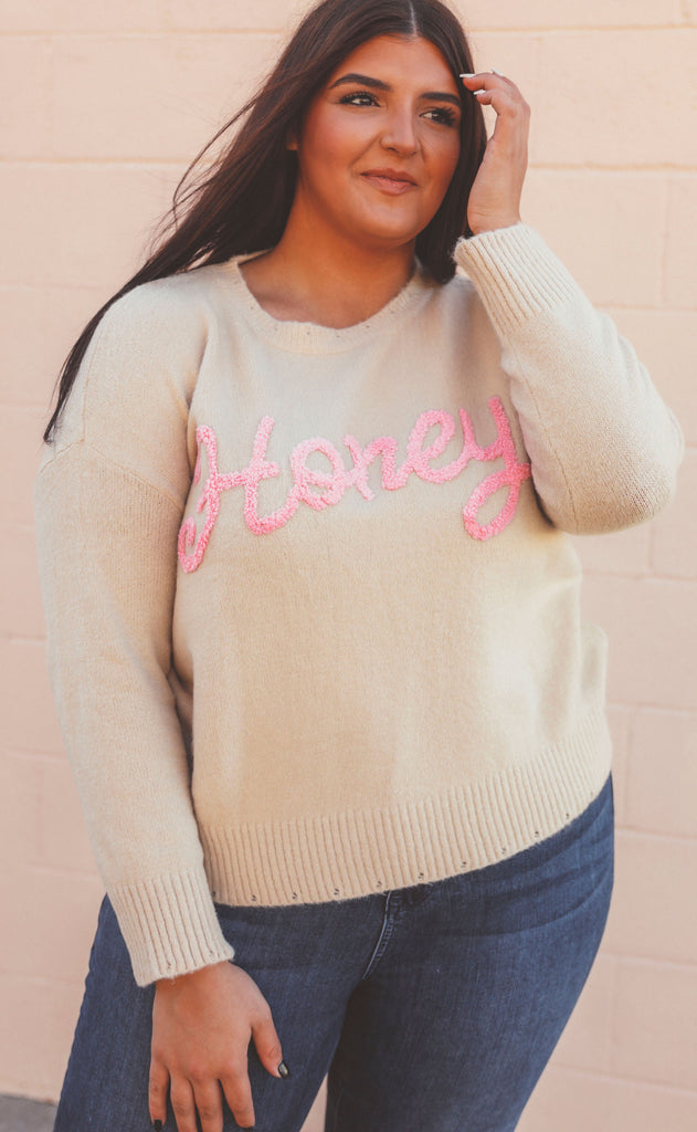 honey oatmeal sweater - extended