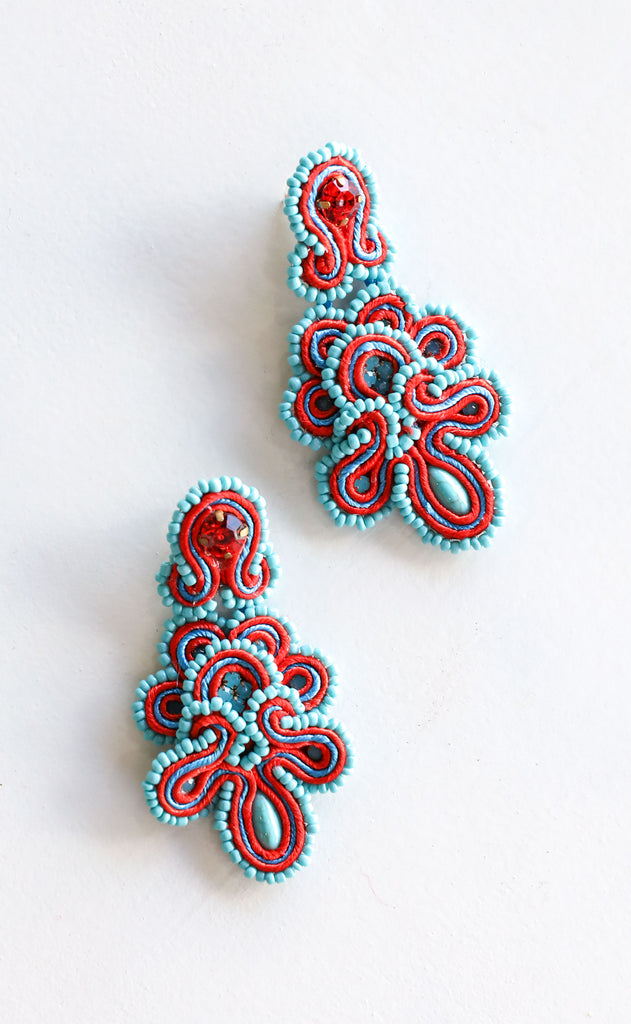 marielis earrings - blue