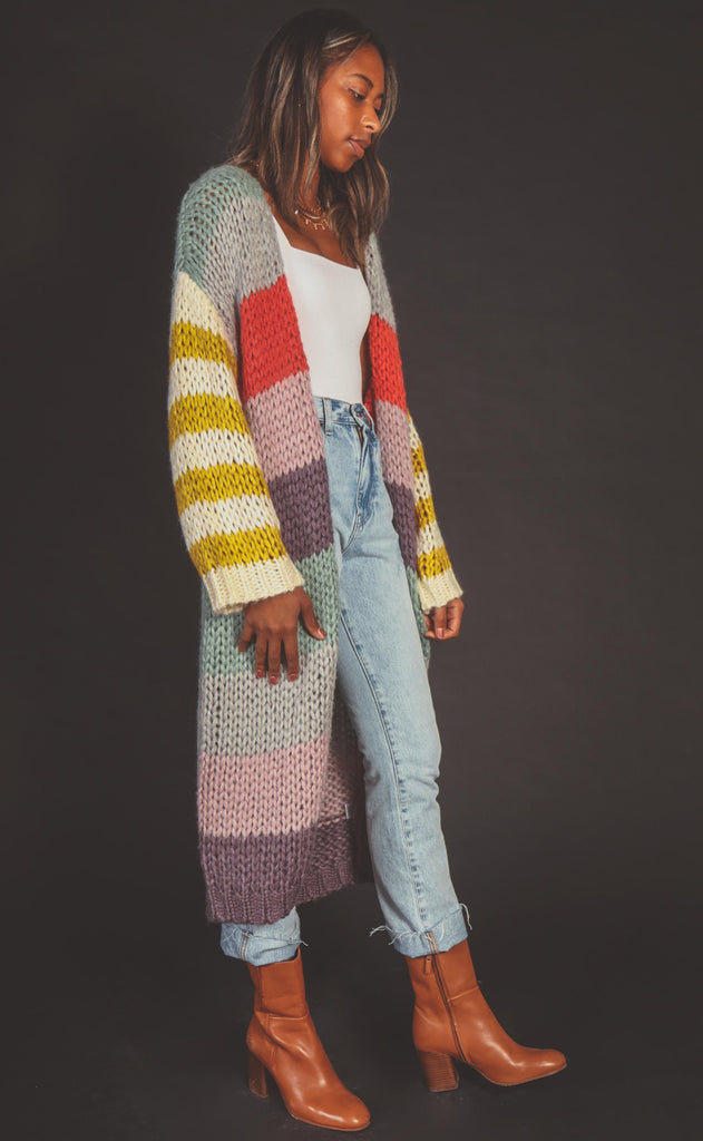 in my dreams striped cardigan