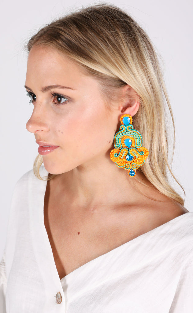 betsy earrings - orange