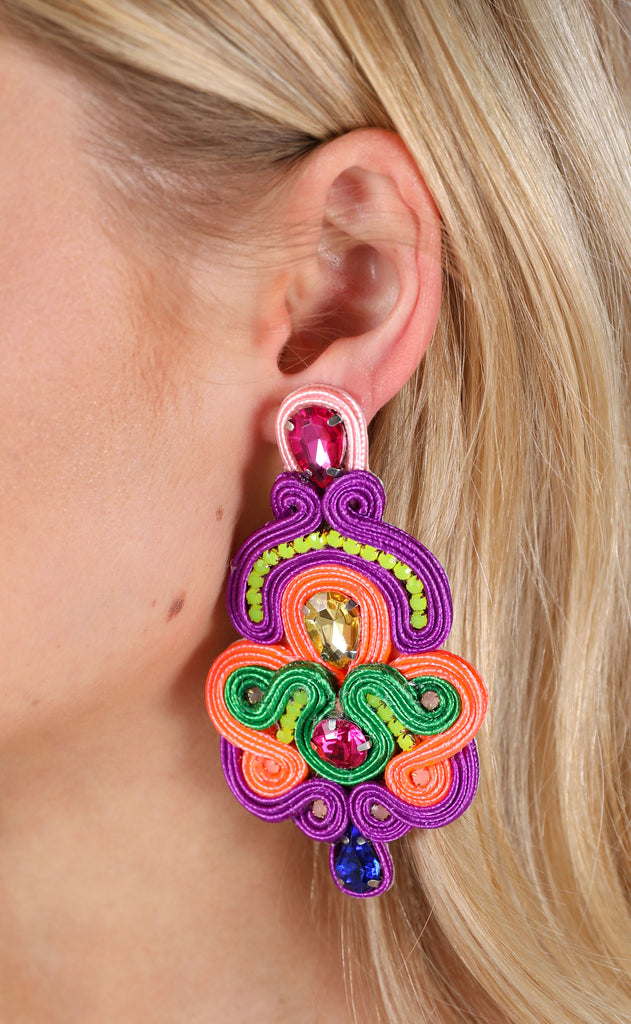 betsy earrings - purple