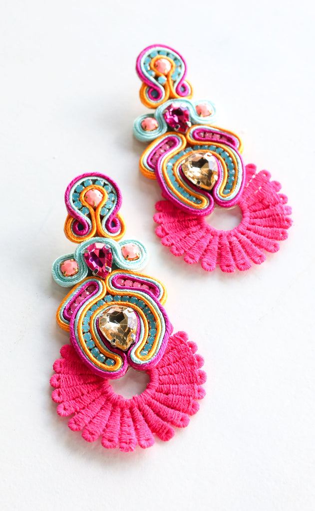 sammy earrings - pink