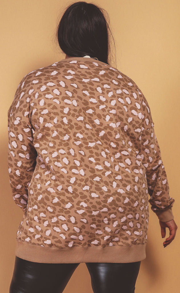 wilder washed leopard tunic camel - extended