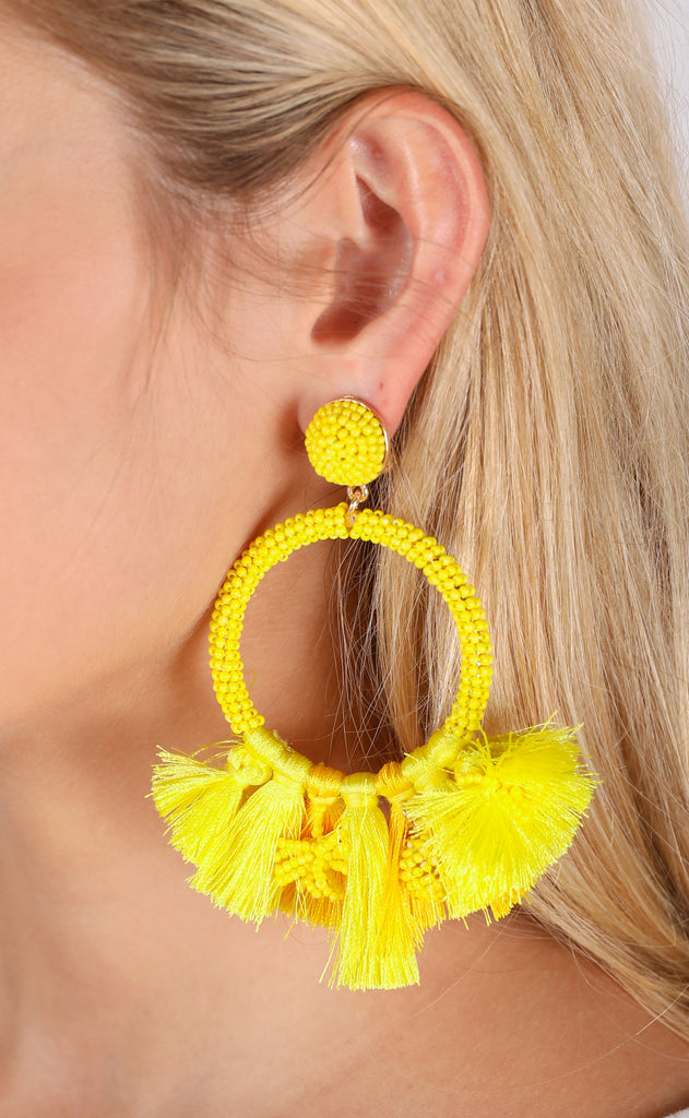 baru earrings - yellow