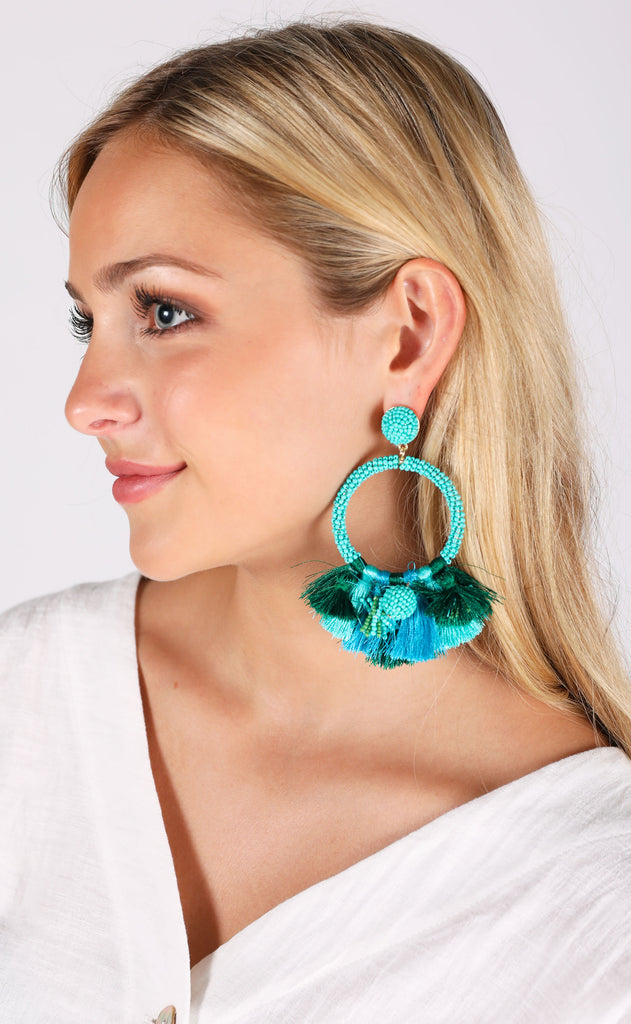 baru earrings - turquoise