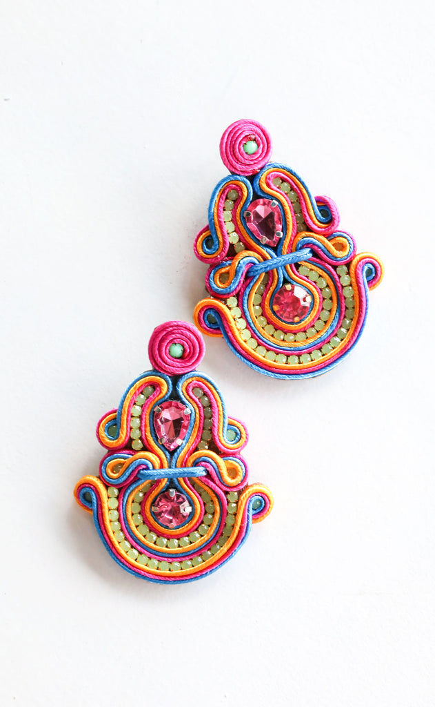 jane earrings - multi