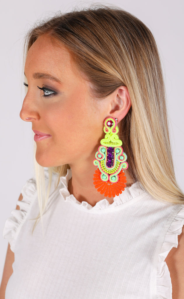 sammy earrings - orange