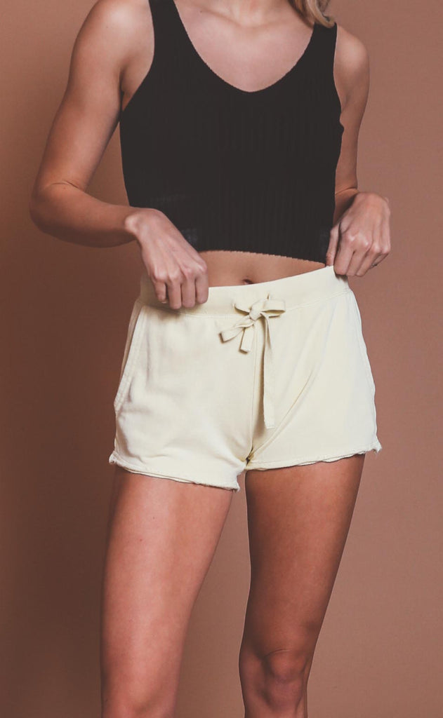 z supply: marina washed short - key lime