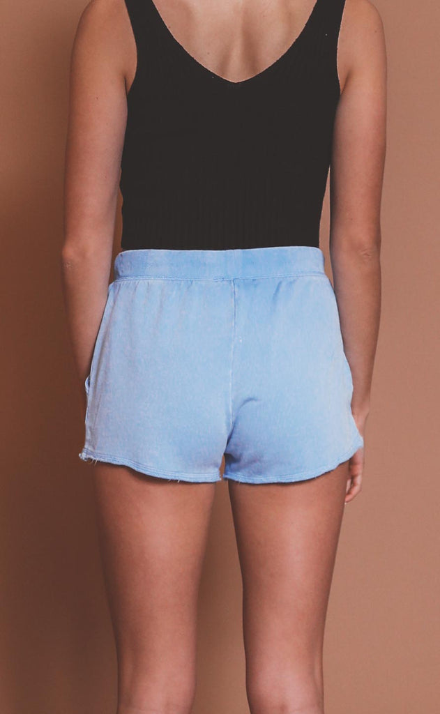 z supply: marina washed short - perennial blue