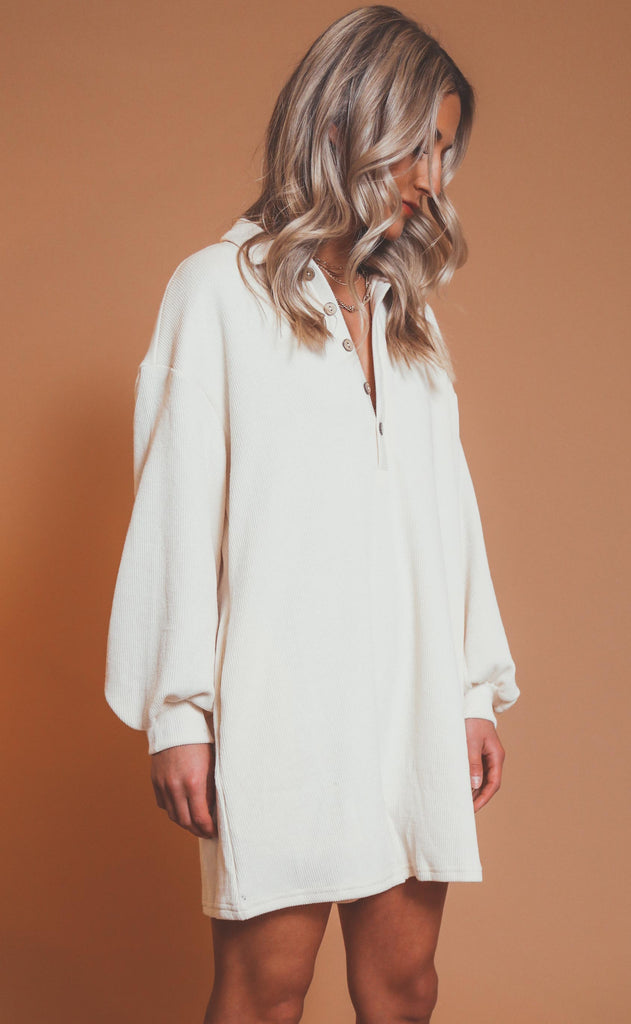 take a trip henley romper - cream