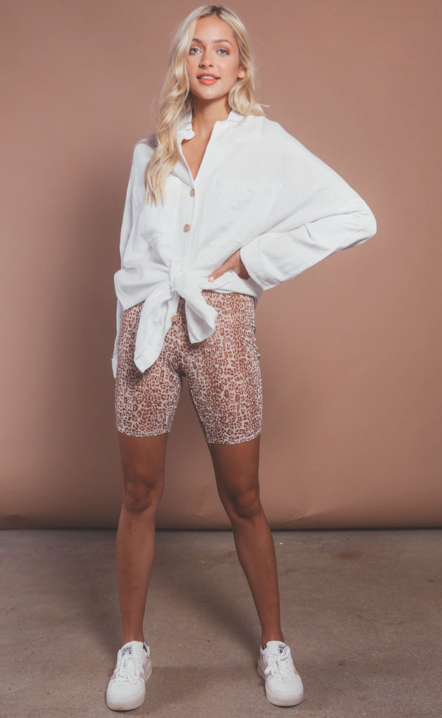wild one lace biker shorts
