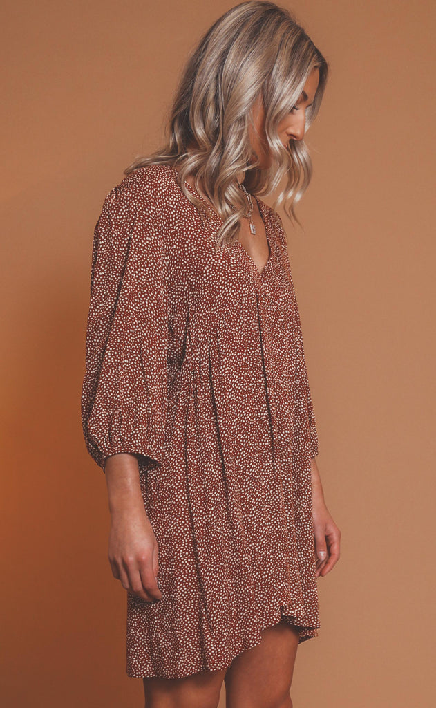 on the verge spotted mini dress