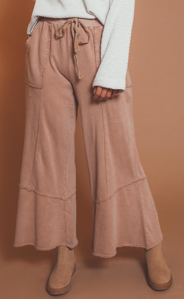 feeling good mineral washed pants - rust