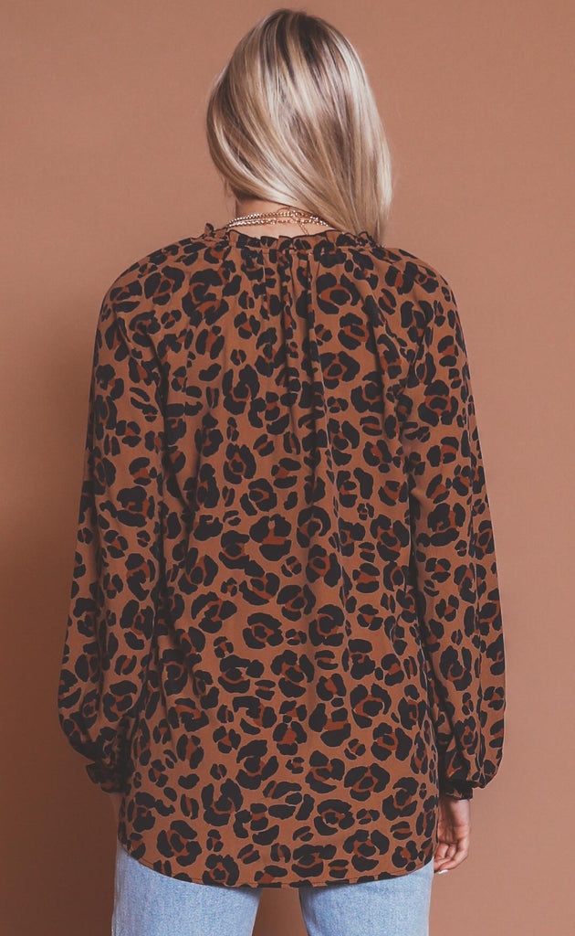 show me your mumu: charlene tunic - caramel cheetah