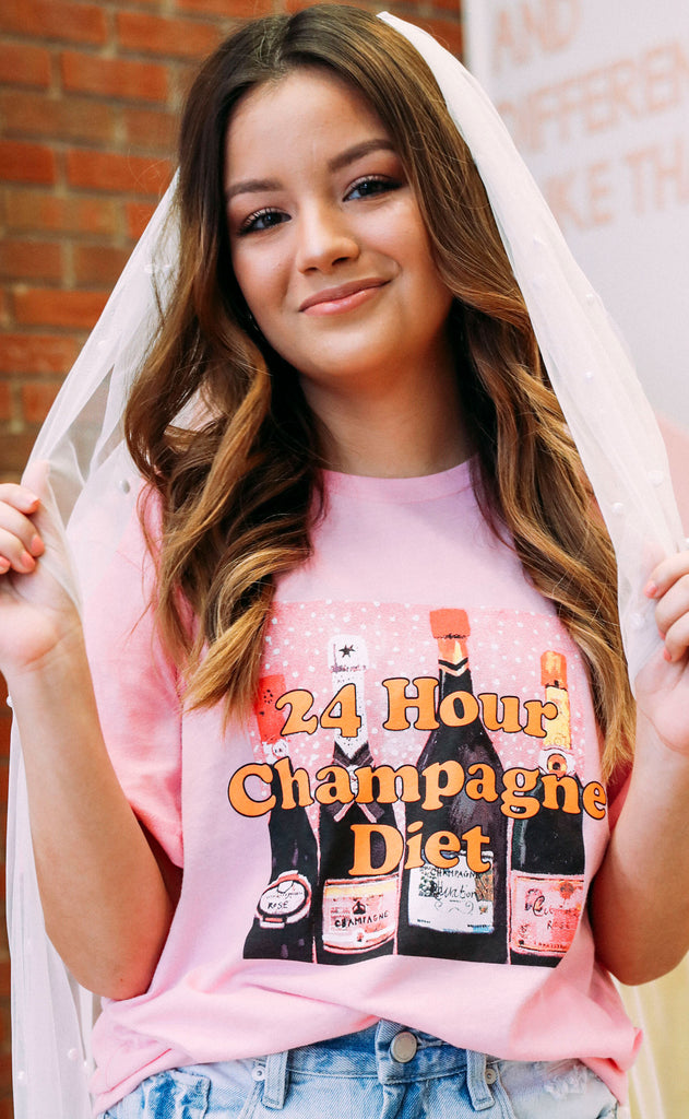 friday + saturday: 24 hour champagne diet t shirt