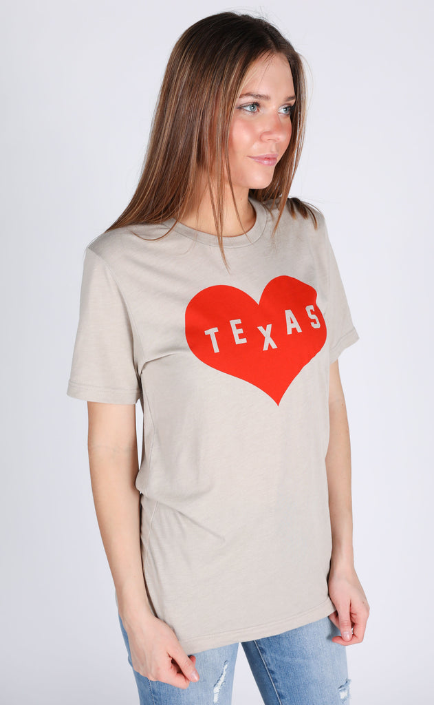 charlie southern: feel good heart state t shirt - texas