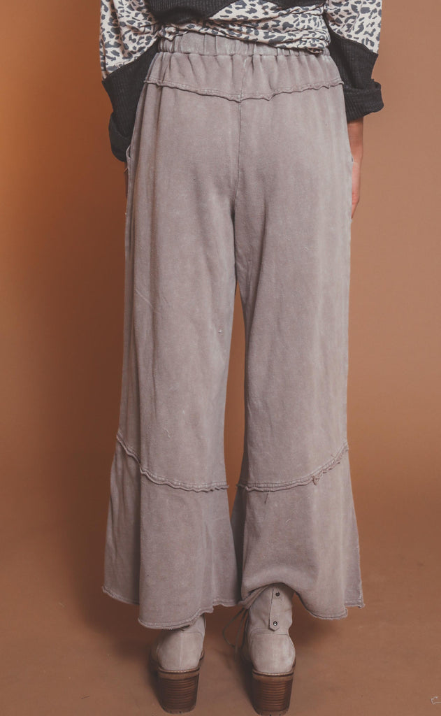 feeling good mineral washed pants - grey