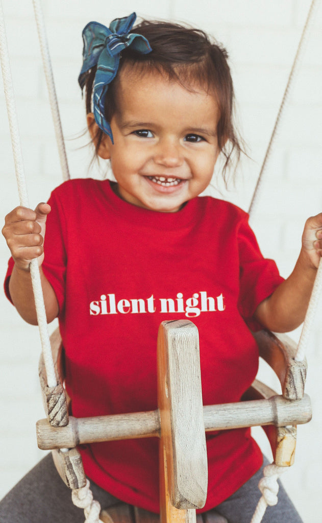 charlie southern: silent night toddler tee