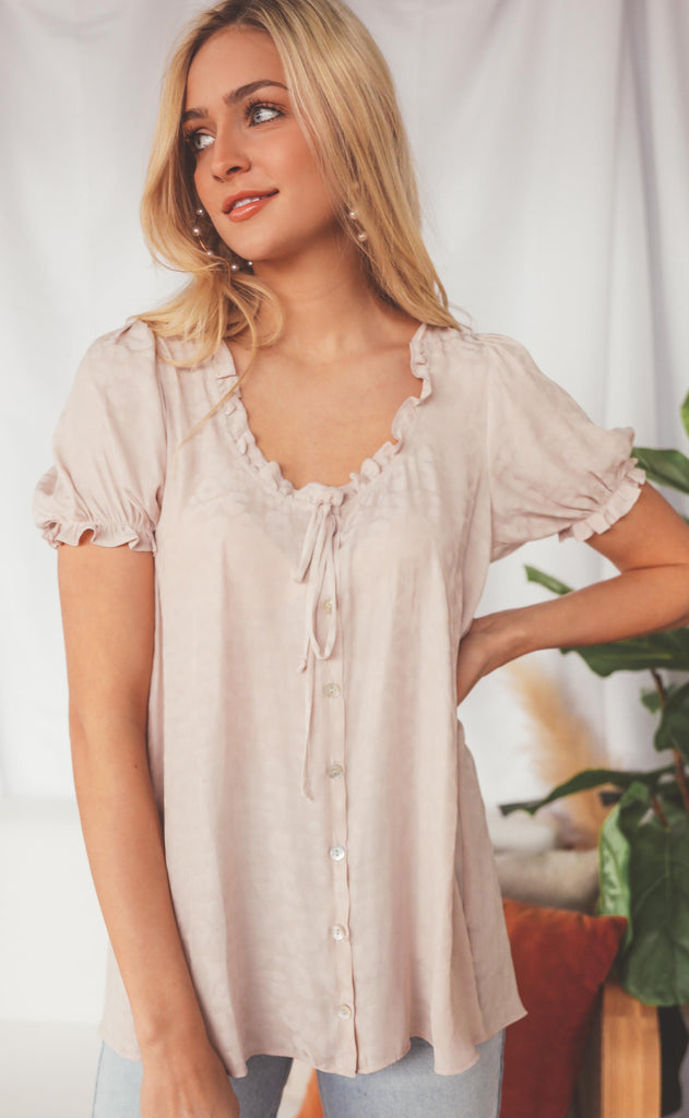 show me your mumu: brunch top - taupe cheetah silky