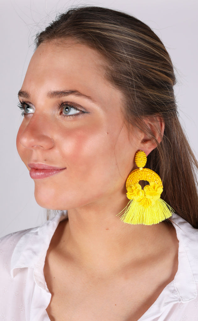 rita earrings - yellow