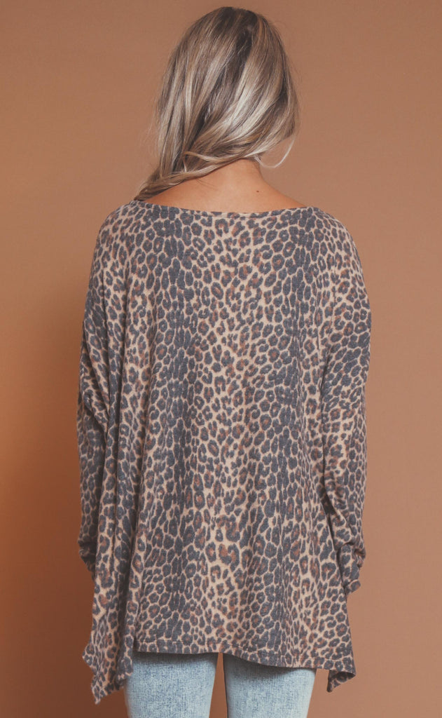 for the love of leopard basic top