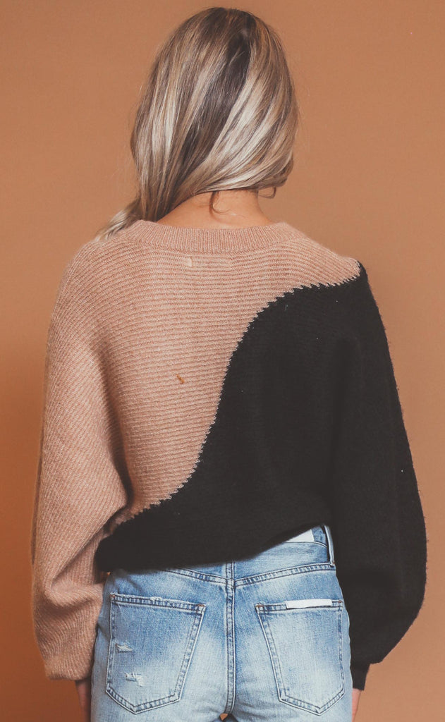 comfort zone colorblocked sweater