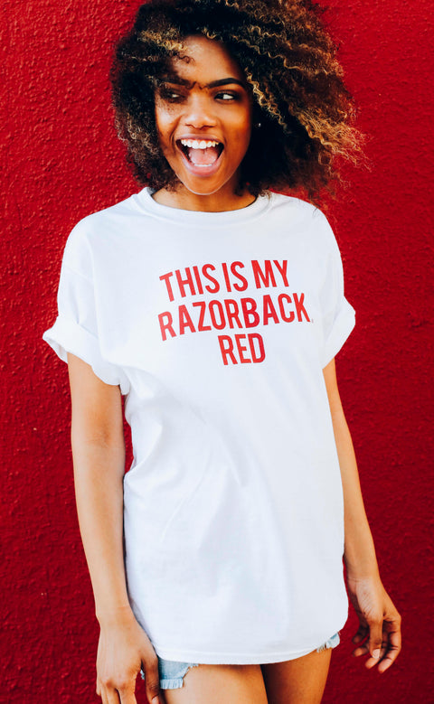 charlie southern: this is my razorback red t shirt (pre-order)