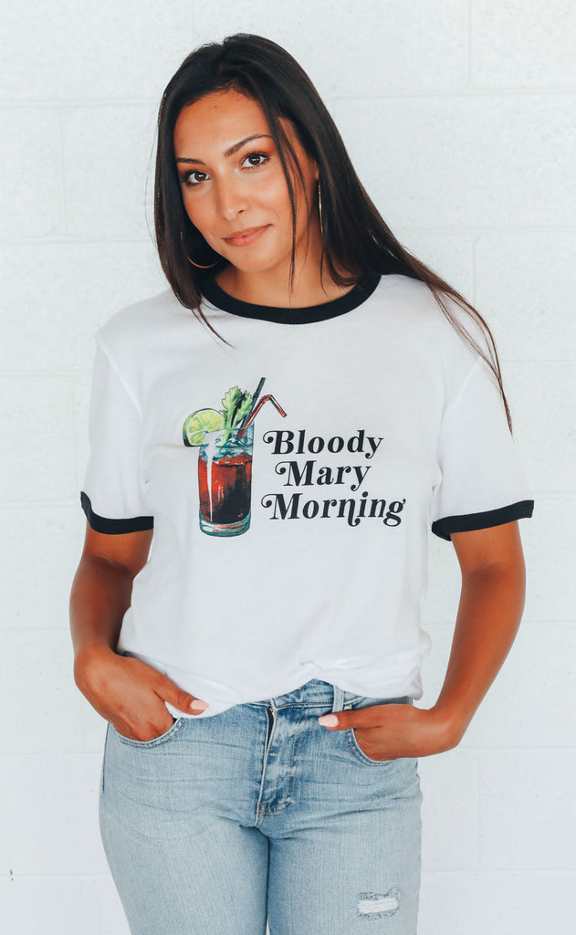 charlie southern: bloody mary morning ringer t shirt