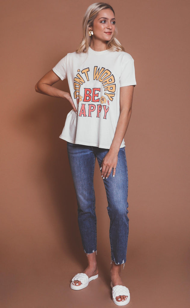 show me your mumu: thomas tee - be happy graphic