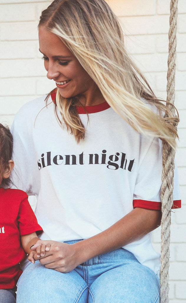 charlie southern: silent night ringer t shirt