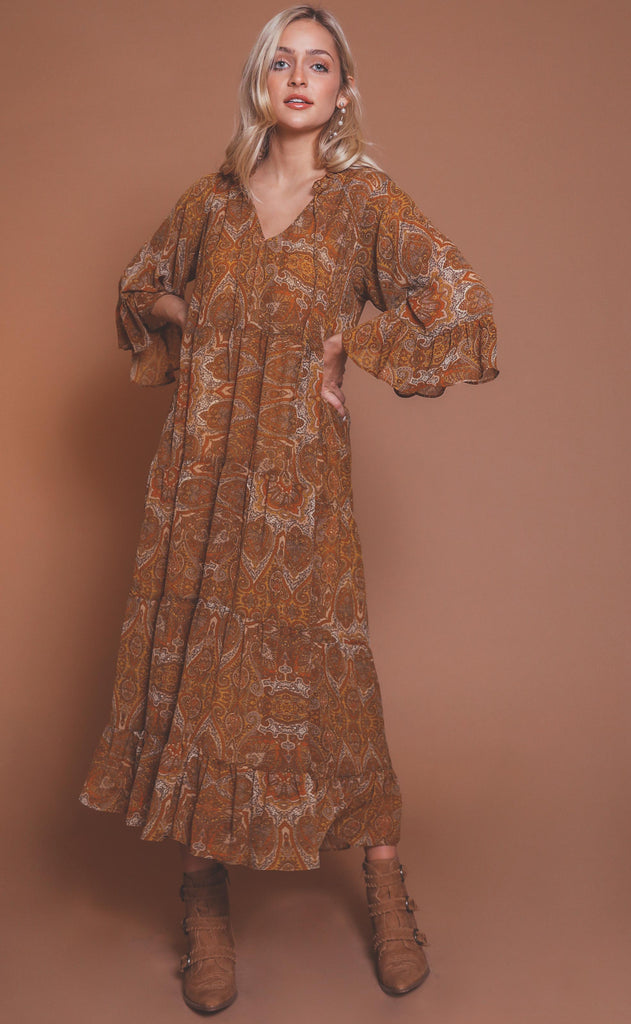 show me your mumu: viola maxi - golden paisley