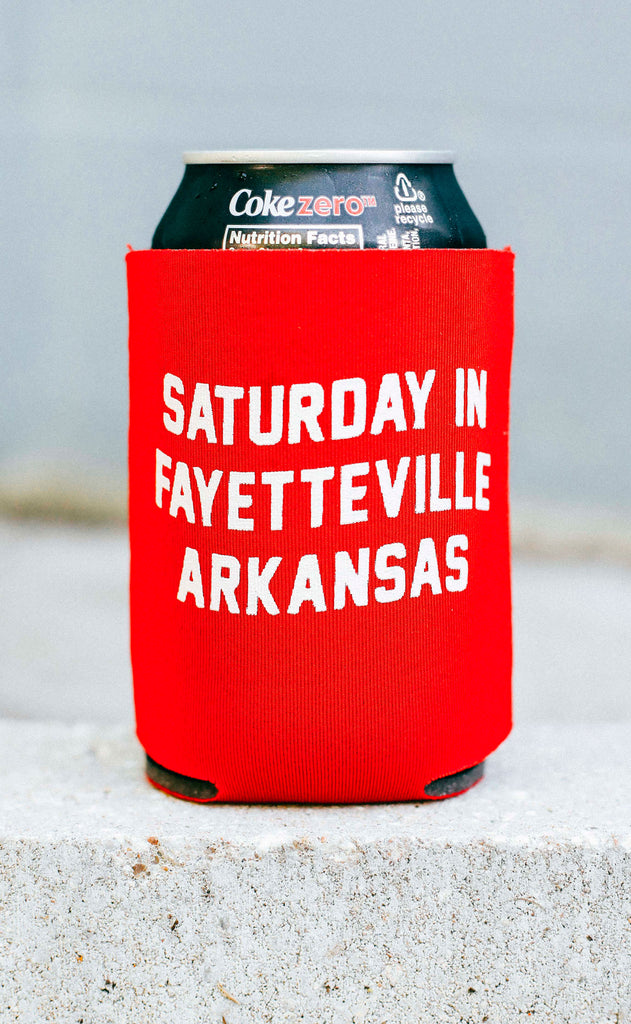 saturday in fayetteville koozie